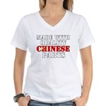 Quality Chinese Parts Women's V-Neck T-Shirt