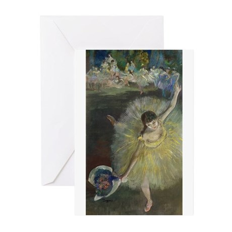 End of an Arabesque by Edgar Degas Greeting Cards