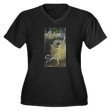 Funny Edgar degas Women's Plus Size V-Neck Dark T-Shirt