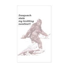 Sasquach Rectangle Decal