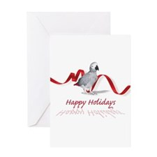 african grey parrot holiday Greeting Card