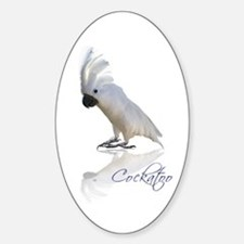 cockatoo Sticker (Oval)