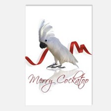 merry cockatoo Postcards (Package of 8)