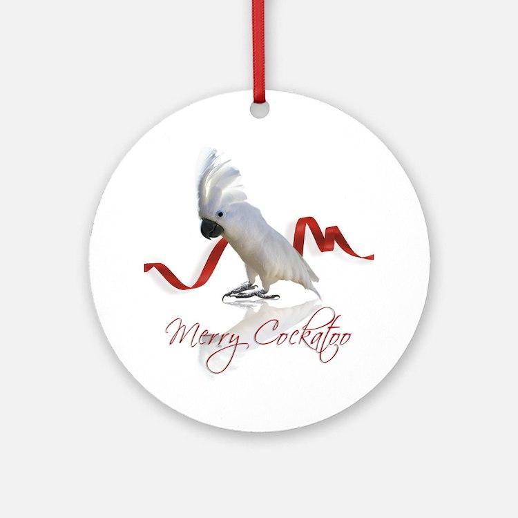 merry cockatoo Ornament (Round)