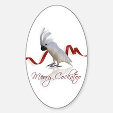 merry cockatoo Sticker (Oval)