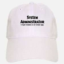 Sys Admin Zombie Fighter Baseball Baseball Cap