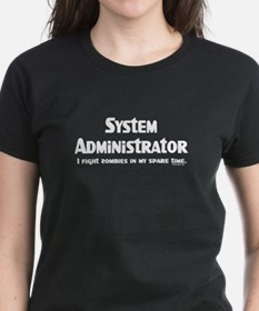 Sys Admin Zombie Fighter Tee