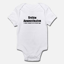 Sys Admin Zombie Fighter Infant Bodysuit