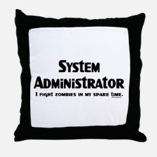 Sys Admin Zombie Fighter Throw Pillow