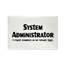 Sys Admin Zombie Fighter Rectangle Magnet
