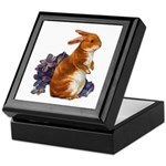 Sitting Rabbit with Flowers Keepsake Box