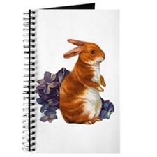 Sitting Rabbit with Flowers Journal