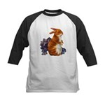 Sitting Rabbit with Flowers Kids Baseball Jersey