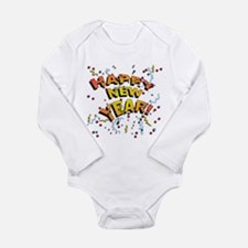 Funny New year Long Sleeve Infant Bodysuit