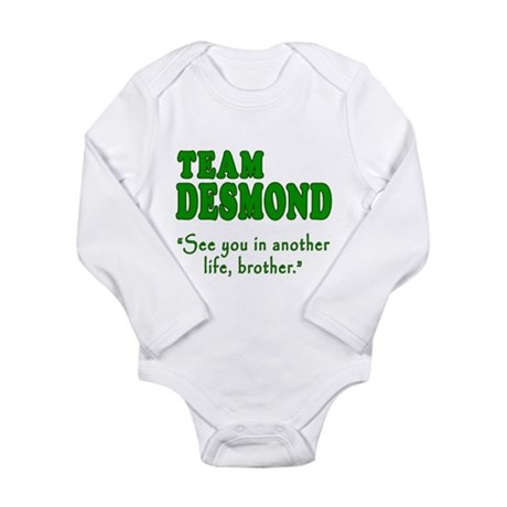 TEAM DESMOND with Quote Long Sleeve Infant Bodysui