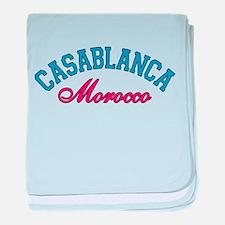 Casablanca Morocco baby blanket
