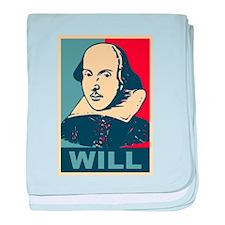 Pop Art William Shakespeare baby blanket