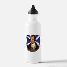 Robert Burns with Scottish Flag Water Bottle