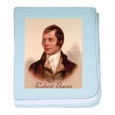 Robert Burns Portrait baby blanket
