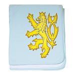Heraldic Gold Lion baby blanket