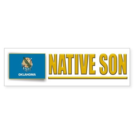 Oklahoma Native Son Bumpersticker