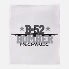 B-52 Aviation Mechnaic Throw Blanket