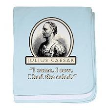 Funny Julius Caesar Salad baby blanket