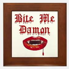 Bite Me Damon Framed Tile