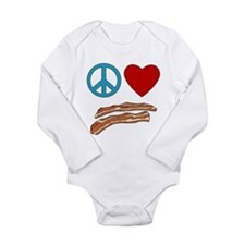 Cute I heart meat Long Sleeve Infant Bodysuit
