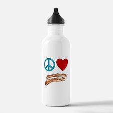 Cute Bacon peace Water Bottle