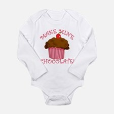 Chocolate Cupcake Long Sleeve Infant Bodysuit