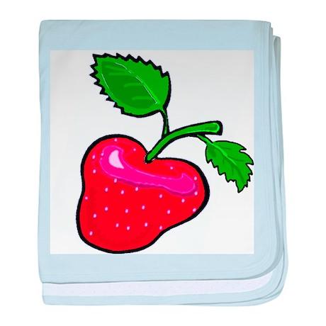 Fresh Summer Strawberry baby blanket
