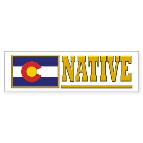 Colorado Native Sticker (Bumper)