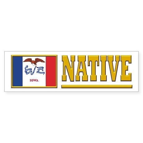 Iowa Native Sticker (Bumper)