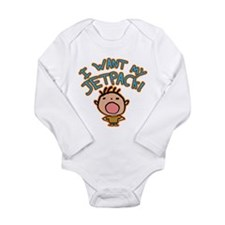 I Want My Jetpack! Long Sleeve Infant Bodysuit