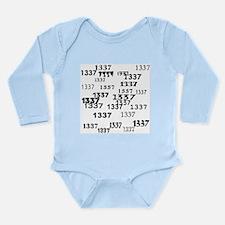 Leet 1337 Leetspeak Long Sleeve Infant Bodysuit