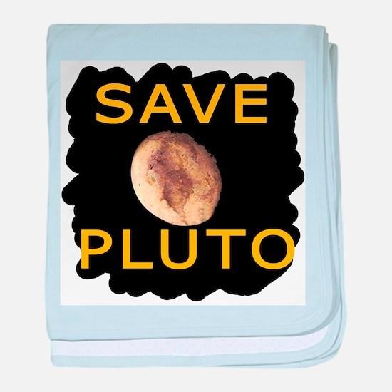 Save Pluto baby blanket