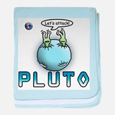Funny Pluto Attacks baby blanket