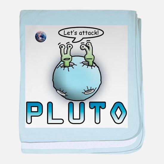 Funny Pluto Attacks baby blanket