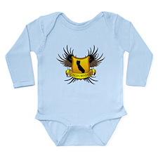 Black and Gold Crest - Calif Long Sleeve Infant Bo