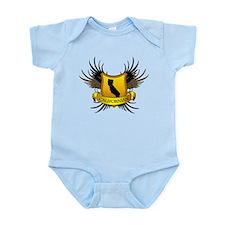Black and Gold Crest - Calif Infant Bodysuit