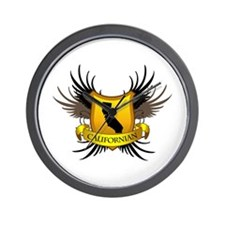 Black and Gold Crest - Calif Wall Clock