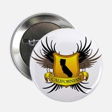 "Black and Gold Crest - Calif 2.25"" Button"