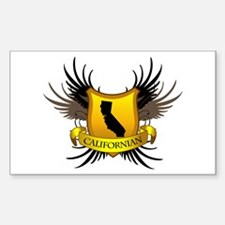 Black and Gold Crest - Calif Decal