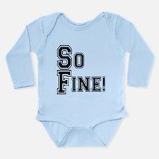 Funny San fran fan Long Sleeve Infant Bodysuit
