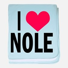I Love NOLE I Heart Nole baby blanket