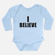 I Believe Playoffs Long Sleeve Infant Bodysuit