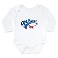 Cute Biplane Long Sleeve Infant Bodysuit