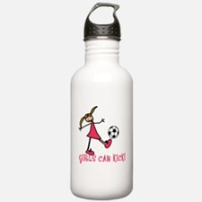 Cool Soccer girl Water Bottle