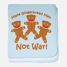 Gingerbread Men Not War baby blanket